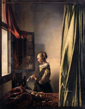 """Muchacha leyendo una Carta"" Johannes Vermeer. 1657."