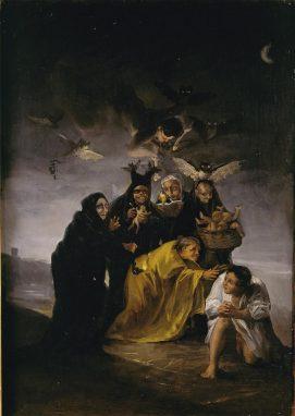 """""""El Conjuro"""" Francisco de Goya. 1798."""