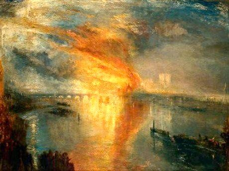 """Incendio en el Parlamento"" William Turner. 1835."