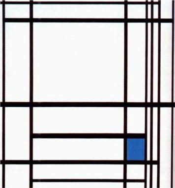 """""""Composición con Azul"""" Piet Mondrian. 1930."""