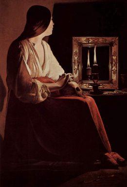 """""""María Magdalena"""" Georges de La Tour. 1640."""