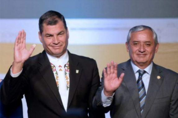 Rafael Correa y Otto Pérez Molina, cuando ambos eran presidentes.