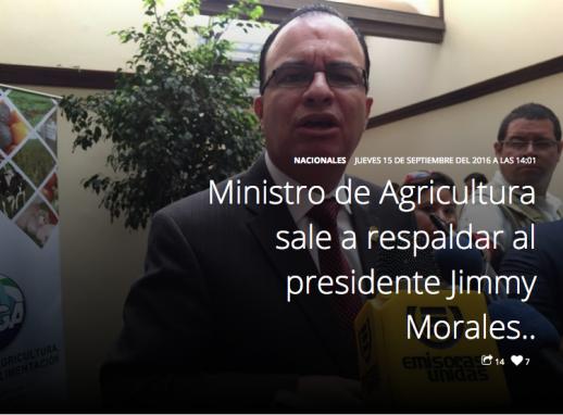 Ministro Agricultura Emisoras Unidas