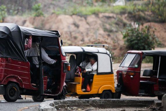 Mototaxis en la zona 18.