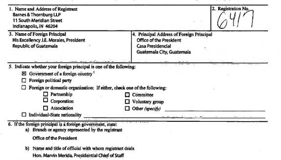 Una imagen del contrato de lobby para Jimmy.