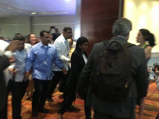 La canciller venezolana se retira de la asamblea de la OEA