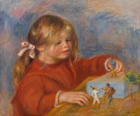 """""""Claude Renoir Jugando"""" Renoir. 1905."""