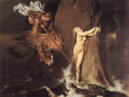 """Roger liberando a Angélica"". Dominique Ingres. 1819."