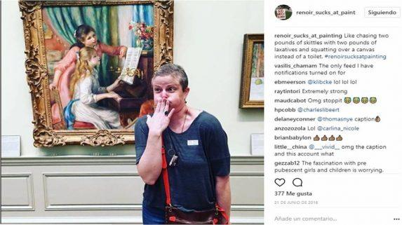 Imagen tomada de la cuenta en Instagram de:  Renoir_sucks_at_painting.