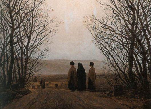 """Fragmento de ilustración """"Mañana de Pascua"""" Caspar David Friedrich. 1835."""