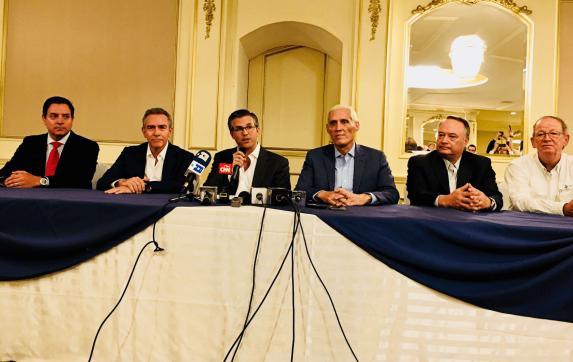 Stefano Olivero, Felipe Bosch, Salvador Paiz, Guillermo Castillo, Herberth González y Fraterno Vila.
