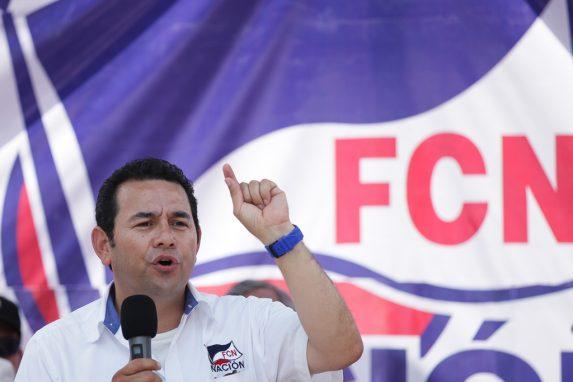 FCN Nación fue la agrupación política que llevó al poder a Jimmy Morales.