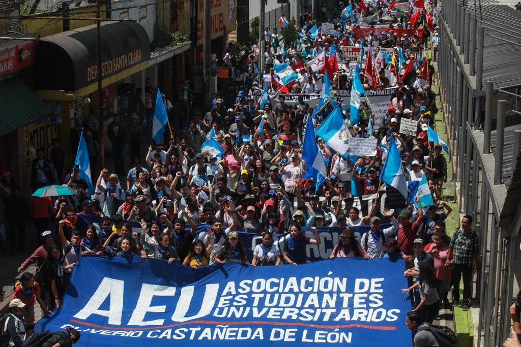 La AEU fue pieza clave en las movilizaciones en contra de la corrupción. Foto: Carlos Sebastián