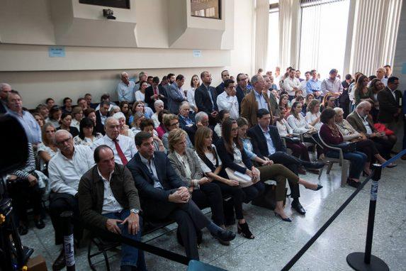 En la sala estuvieron presentes familiares y amigos de los sindicados en el caso de ejecuciones extrajudiciales y tortura.