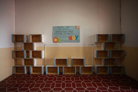 """""""Empezar de nuevo"""", uno de los mensajes para motivar a las niñas en uno de los hogares Zafiro."""