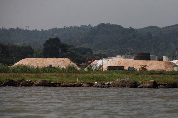 Área de explotación de níquel en Izabal.