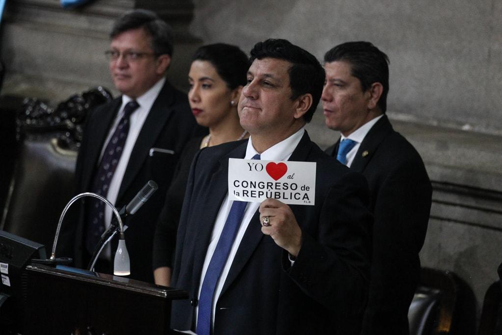 Estuardo Galdámez, diputado del FCN, de los principales promotores para que se suprima la CC.