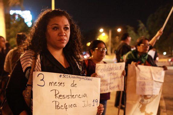JULIO. Las protestas ciudadanas en contra del presidente Daniel Ortega en Nicaragua fueron sumándose en otros países. En Guatemala, la comunidad de nicaragüenses protestó en apoyo de la rebelión en su país y repudiando la represión originada por el gobierno de la dictadura.