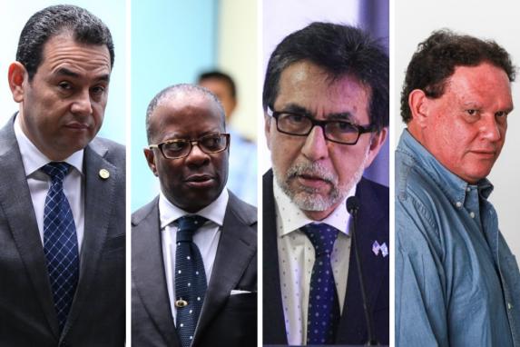 Jimmy Morales, Todd Robinson, Luis Arreaga y el arquitecto Fernando Sáenz, algunos de los protagonistas de la investigación.