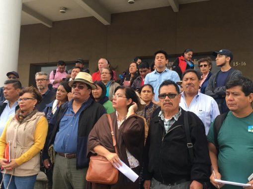 Organizaciones sociales en conferencia de Prensa frente al MP. Foto: Carlos Sebastián