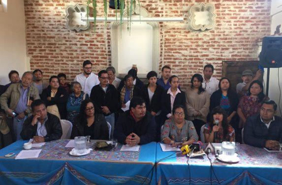 Oranizaciones sociales en conferencia de Prensa. Foto: Sandra Sebastián