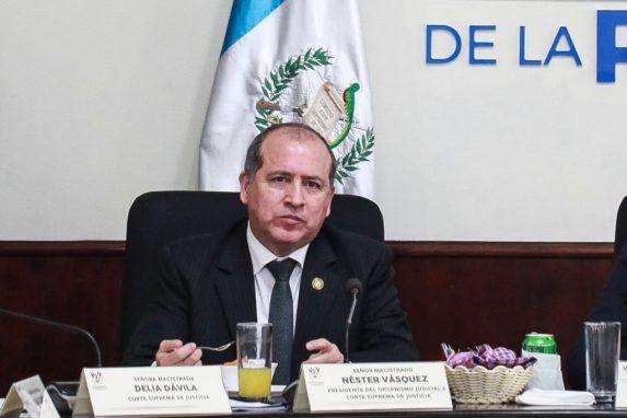 Nester Vásquez Pimentel, presidente del Organismo Judicial.