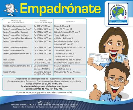 Afiche informativo del TSE.