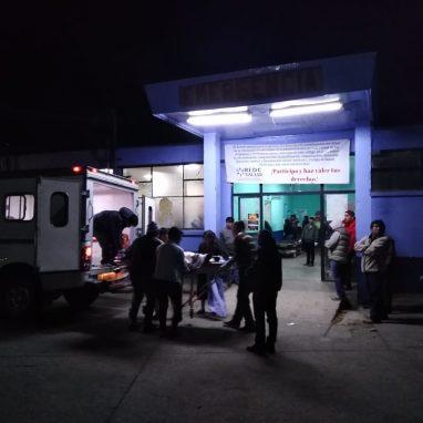 La morgue donde atienden a las víctimas del percance vial. Foto: Bomberos Municipales Departamentales