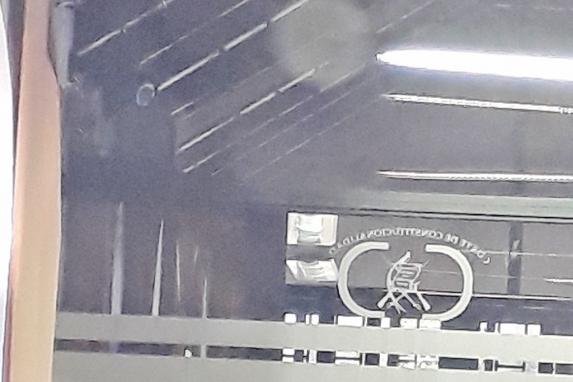 Una de las cámaras instaladas en el área de los trabajadores de la CC.