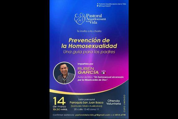 Afiche promocional de la charla impartida por Rubén García.