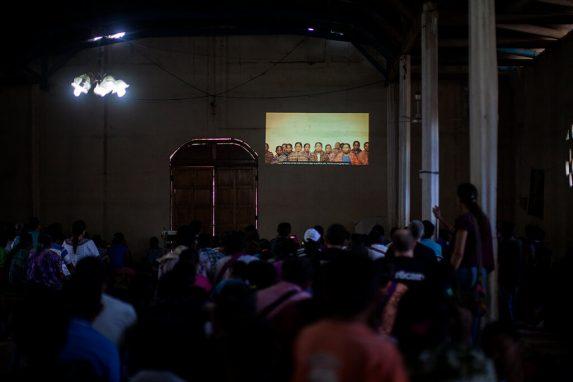Documental proyectado a la comunidad de Sepur Zarco.