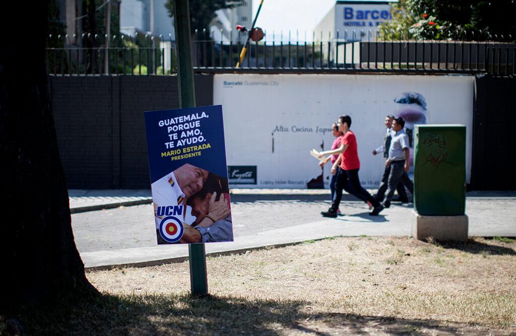 Propaganda de Mario Estrada en la zona 9 capitalina. Foto: Sandra Sebastián