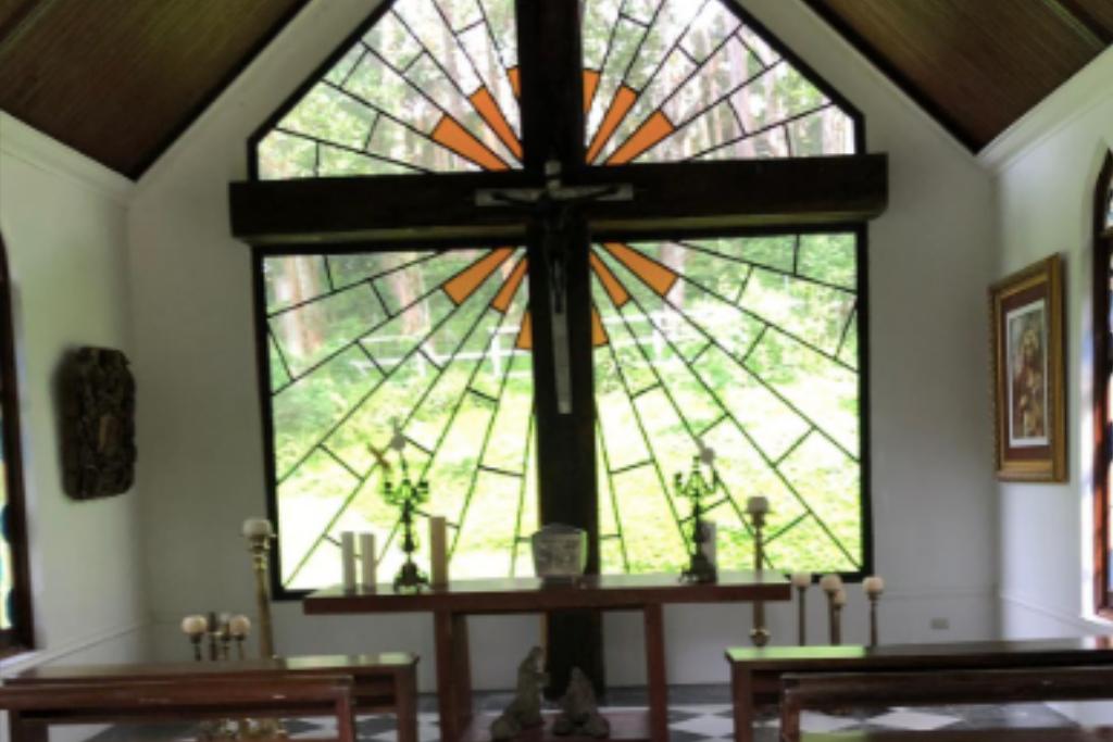 Detalle del interior de la capilla.