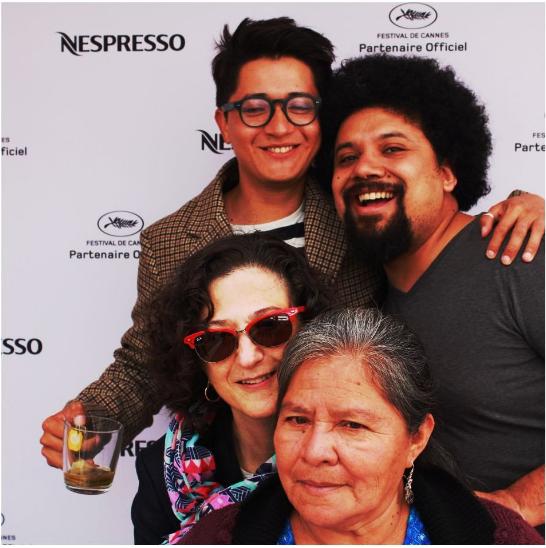 Los protagonistas: Armando Espitia, Emma Dib, Julio Serrano Echeverría y Aurelia Caal.