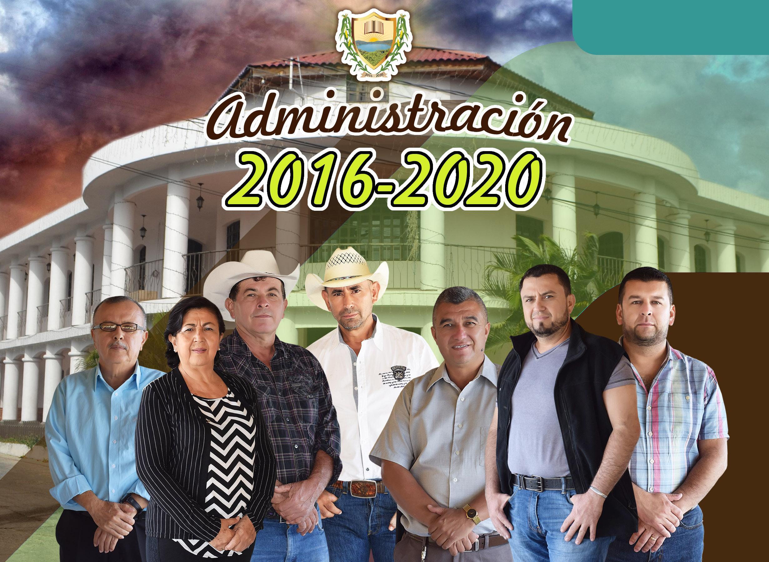 En la fotografía, siete miembros de la actual corporación municipal que buscan la reelección con Milpa. En el equipo no había un concejal de oposición. Foto: Municipalidad de Ipala