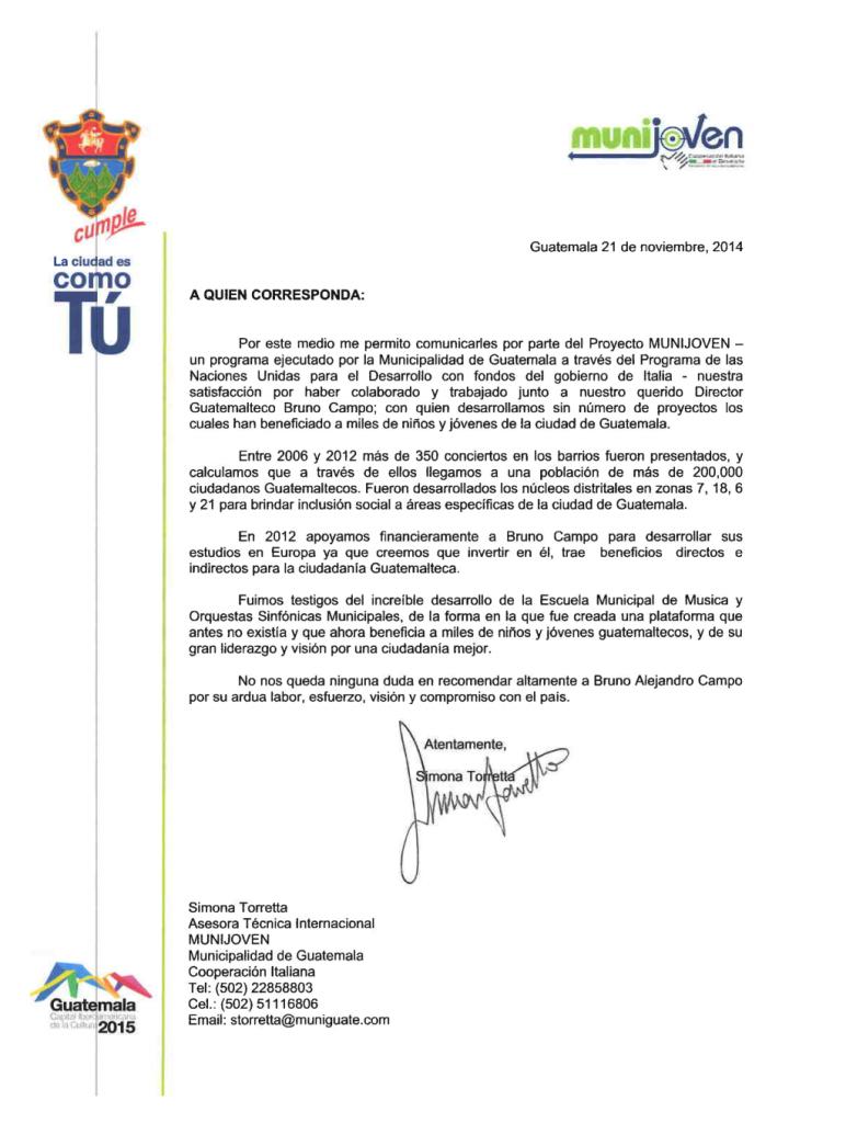 La Municipalidad financió el viaje de Bruno Campo a Europa.