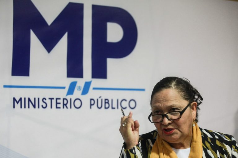 Consuelo Porras, prosecutor on behalf of corruption and impunity