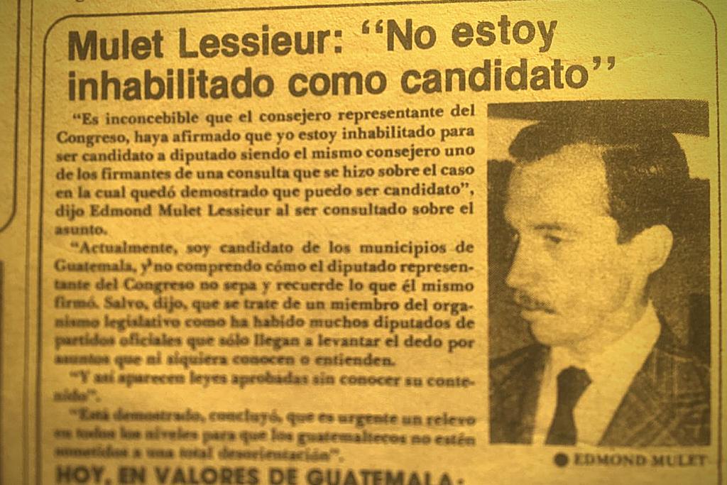 Mulet habla sobre su candidatura. Publicación de la revista Crónica.Mulet habla sobre su candidatura. Publicación de la revista Crónica.