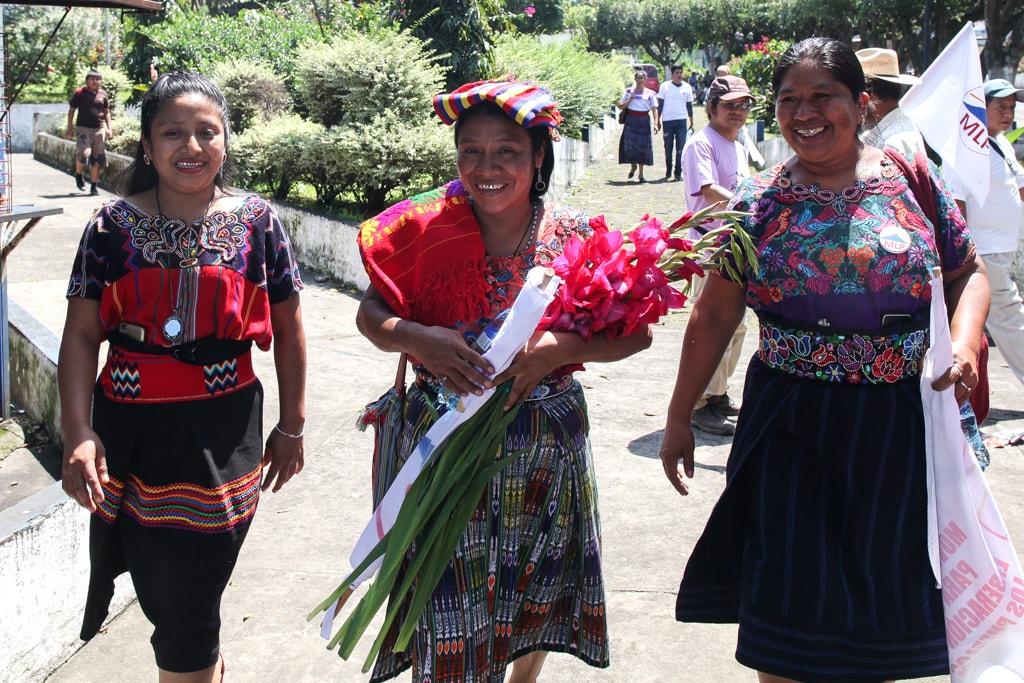 Thelma Cabrera en El Palmar, Quetzaltenango. Foto: Carlos Sebastián