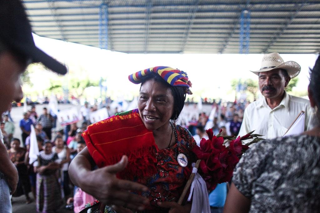 """El """"buen vivir"""" es uno de los pilares del plan de trabajo del MLP y lo promueve Thelma Cabrera. Foto: Carlos Sebastián"""