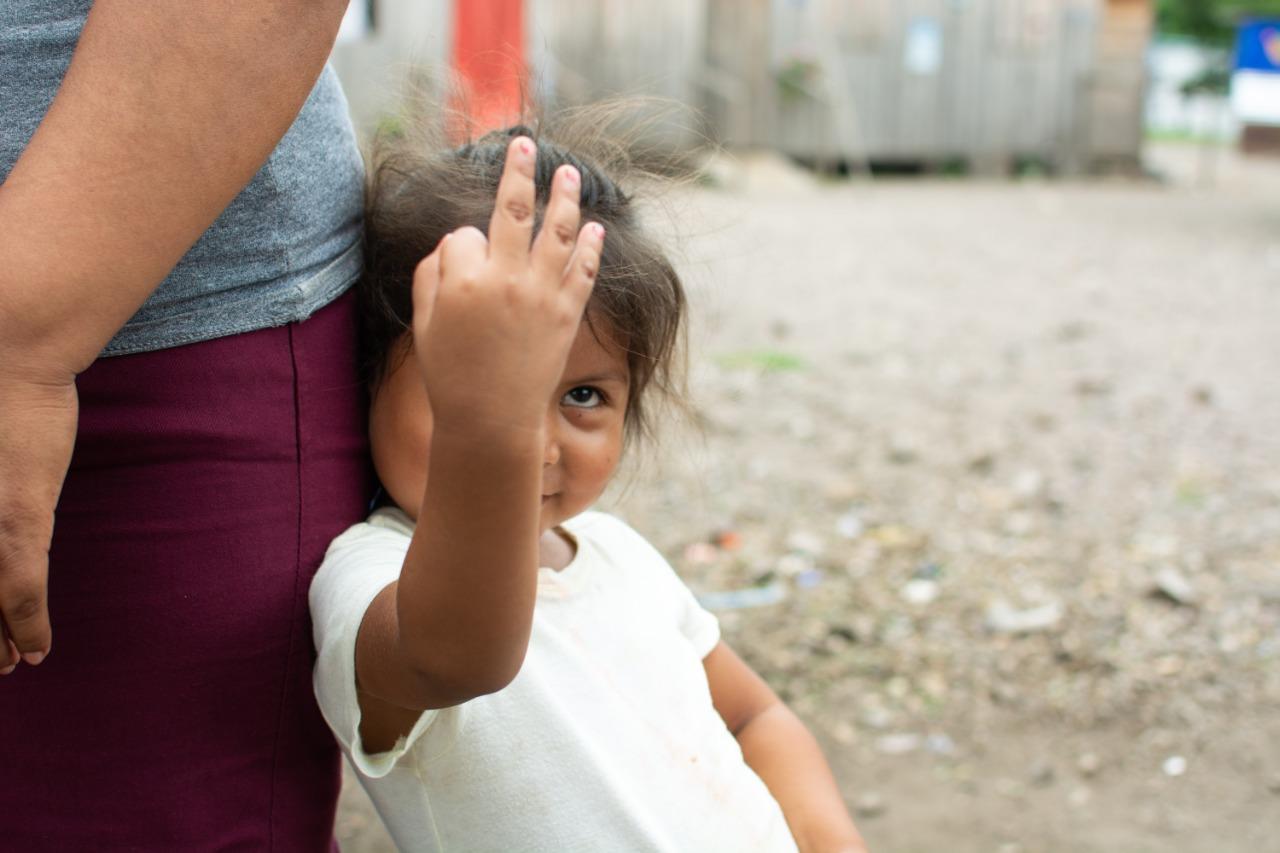 Odelquis Ortíz tiene tres años. Foto: Xavi Cujantre