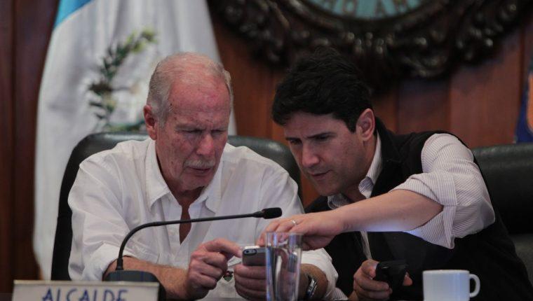 Alvaro Arzú y Ricardo Quiñónez. Foto: Prensa Libre