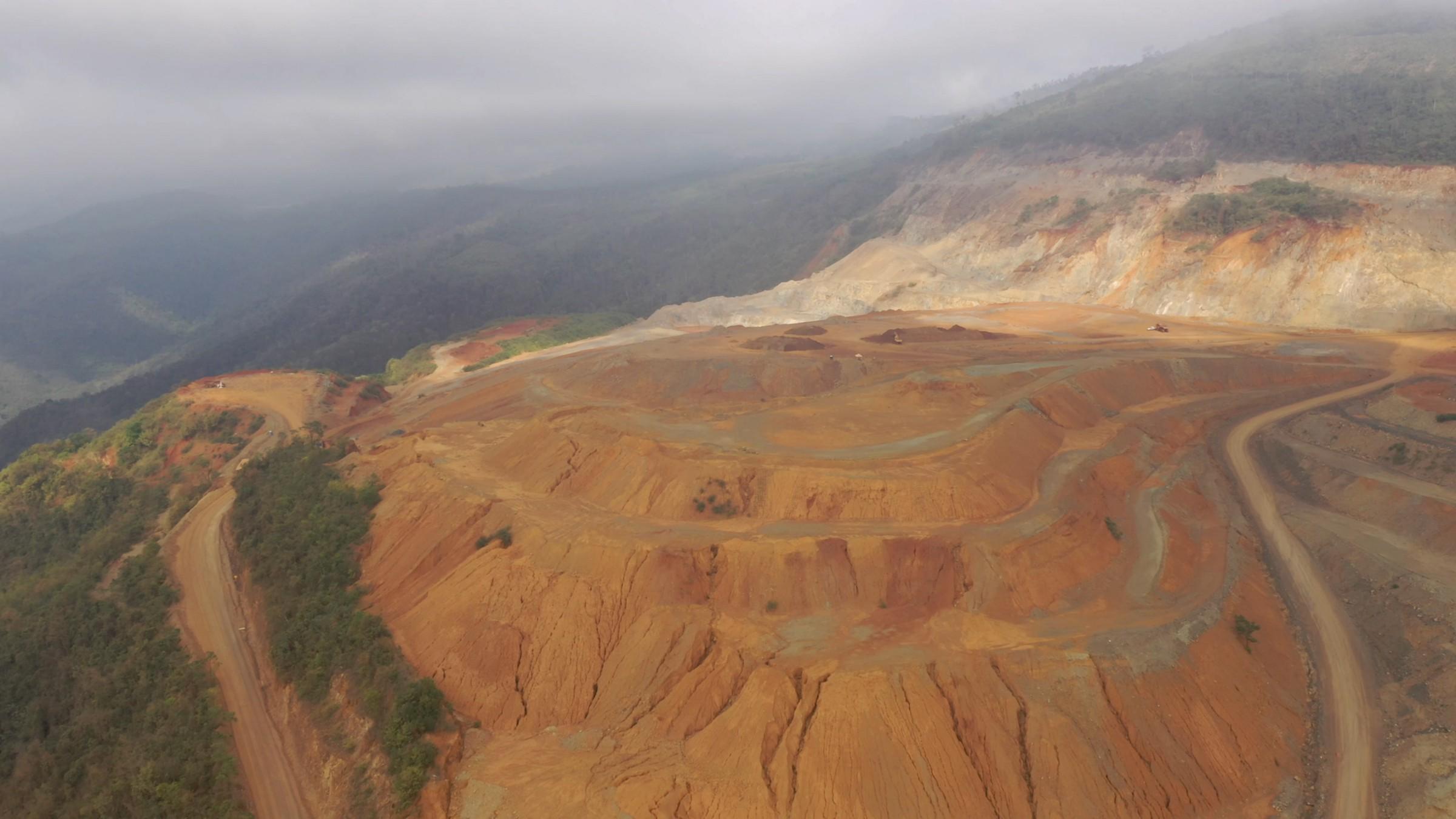 Cantera del proyecto minero Fenix de la empresa ruso suiza Solway Investment Group, operada por la empresa rusa CGN — Pronico en El Estor Izabal. Foto: Forbidden Stories.