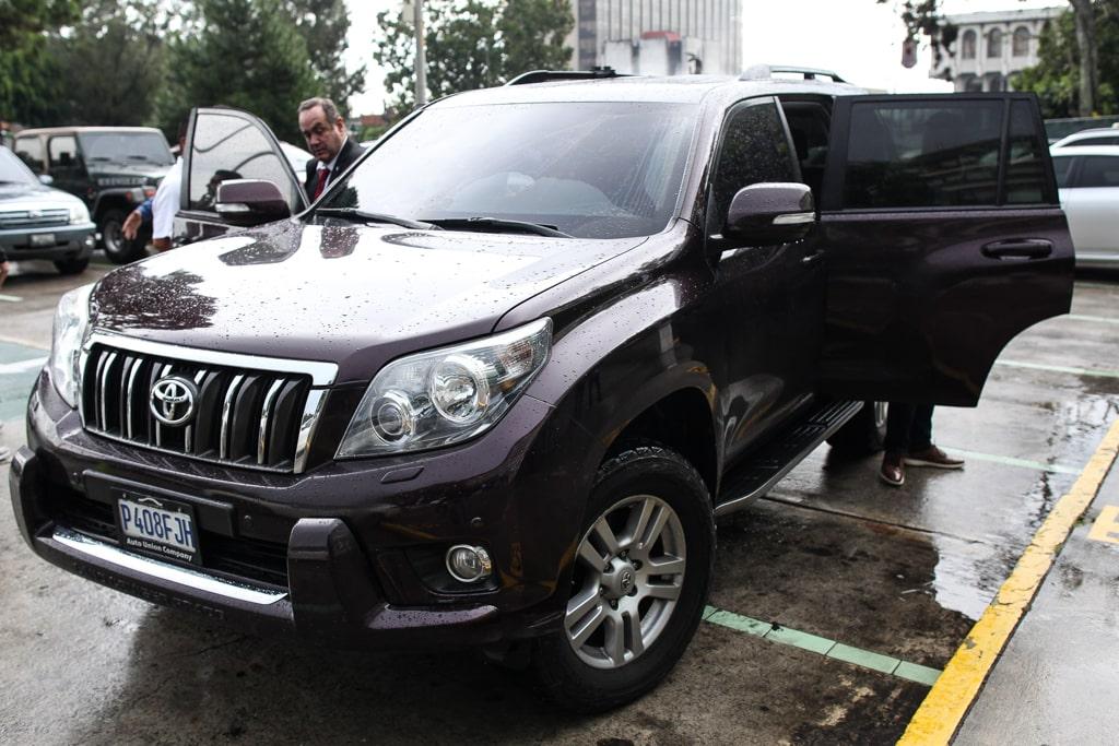 Este es el vehículo FERSA le proporcionó a Giammattei y que no fue declarado al TSE.