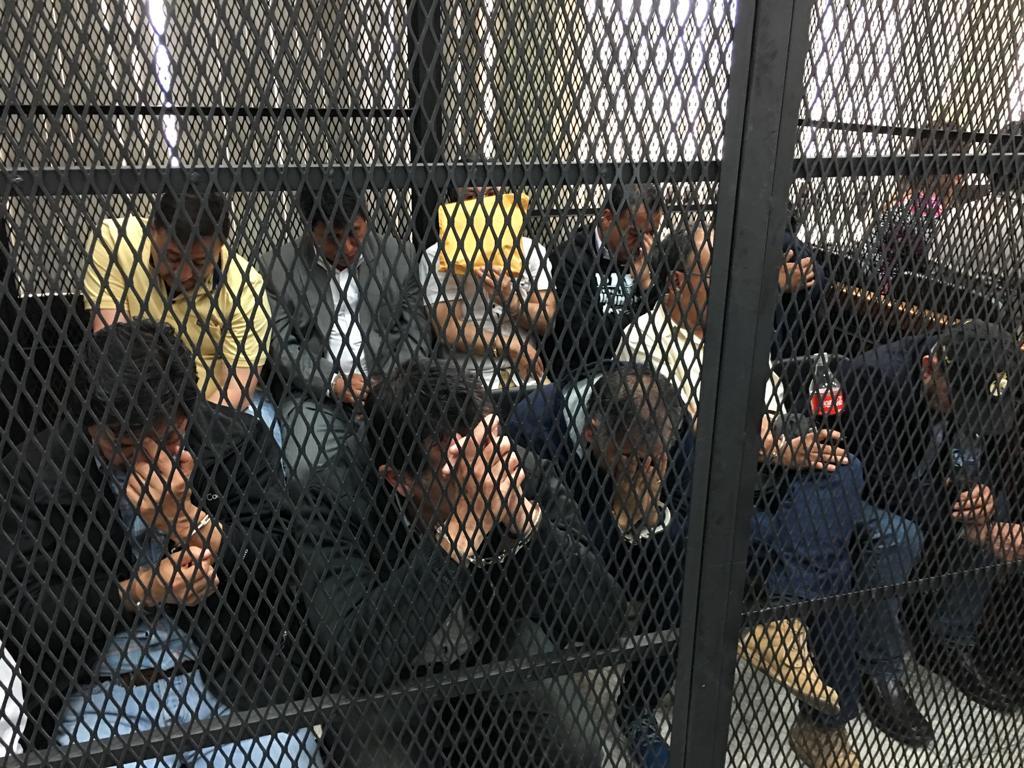 Parte de la estructura criminal que investiga CICIG y FECI. Fueron detenidos este martes. Foto: Carlos Sebastián