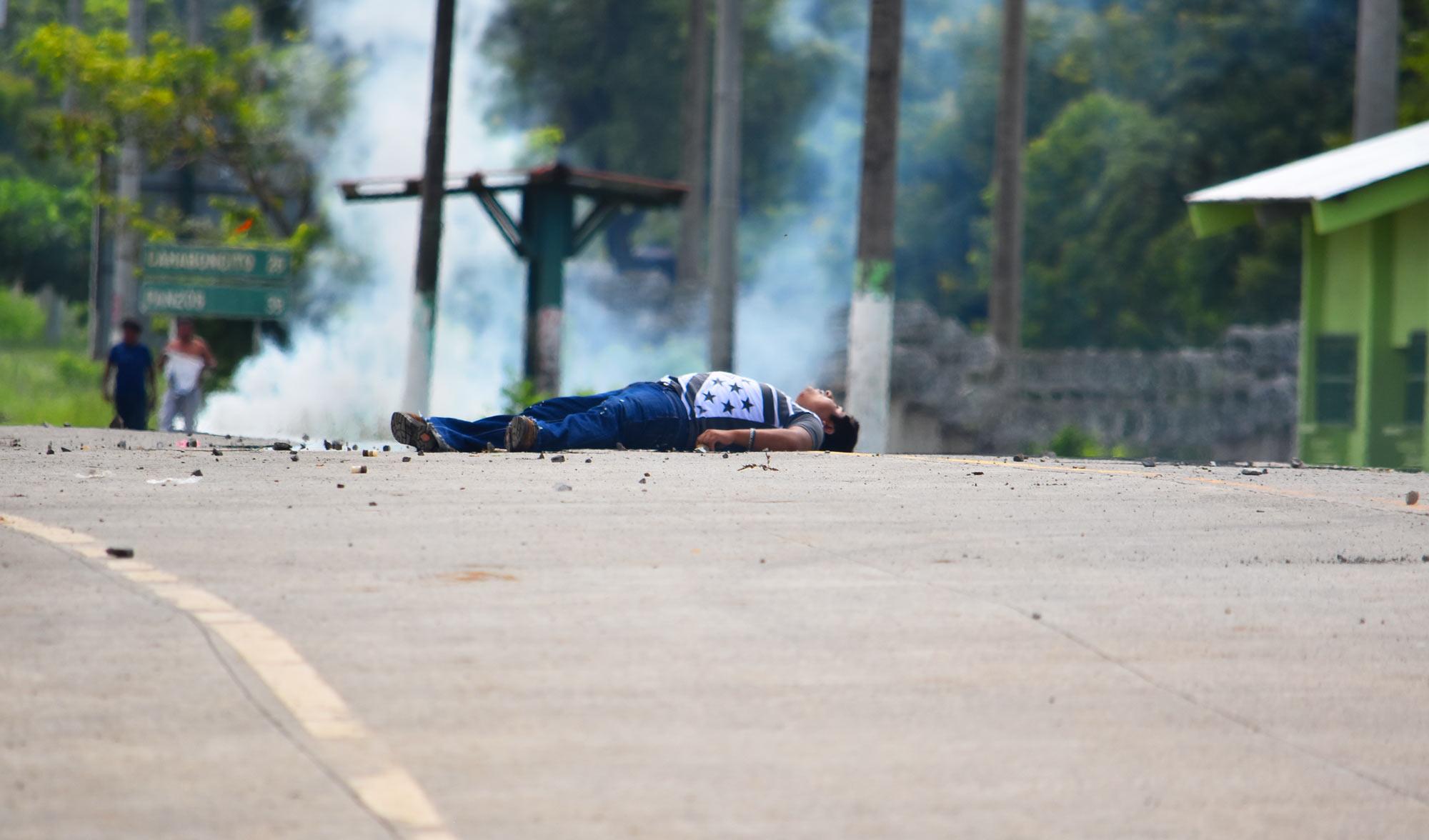 Carlos Maaz muerto durante una manifestación el 27 de mayo de 2017 en El Estor (Créditos: Carlos Choc)