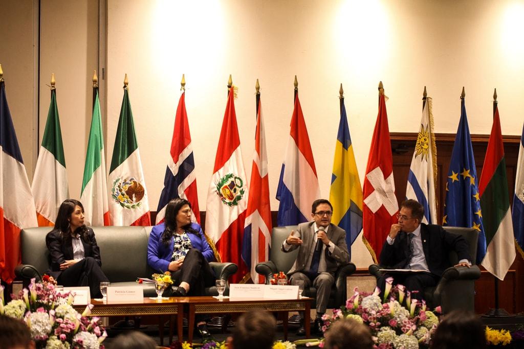 El fiscal Sandoval durante su participación en un reciente foro organizado por la CICIG.