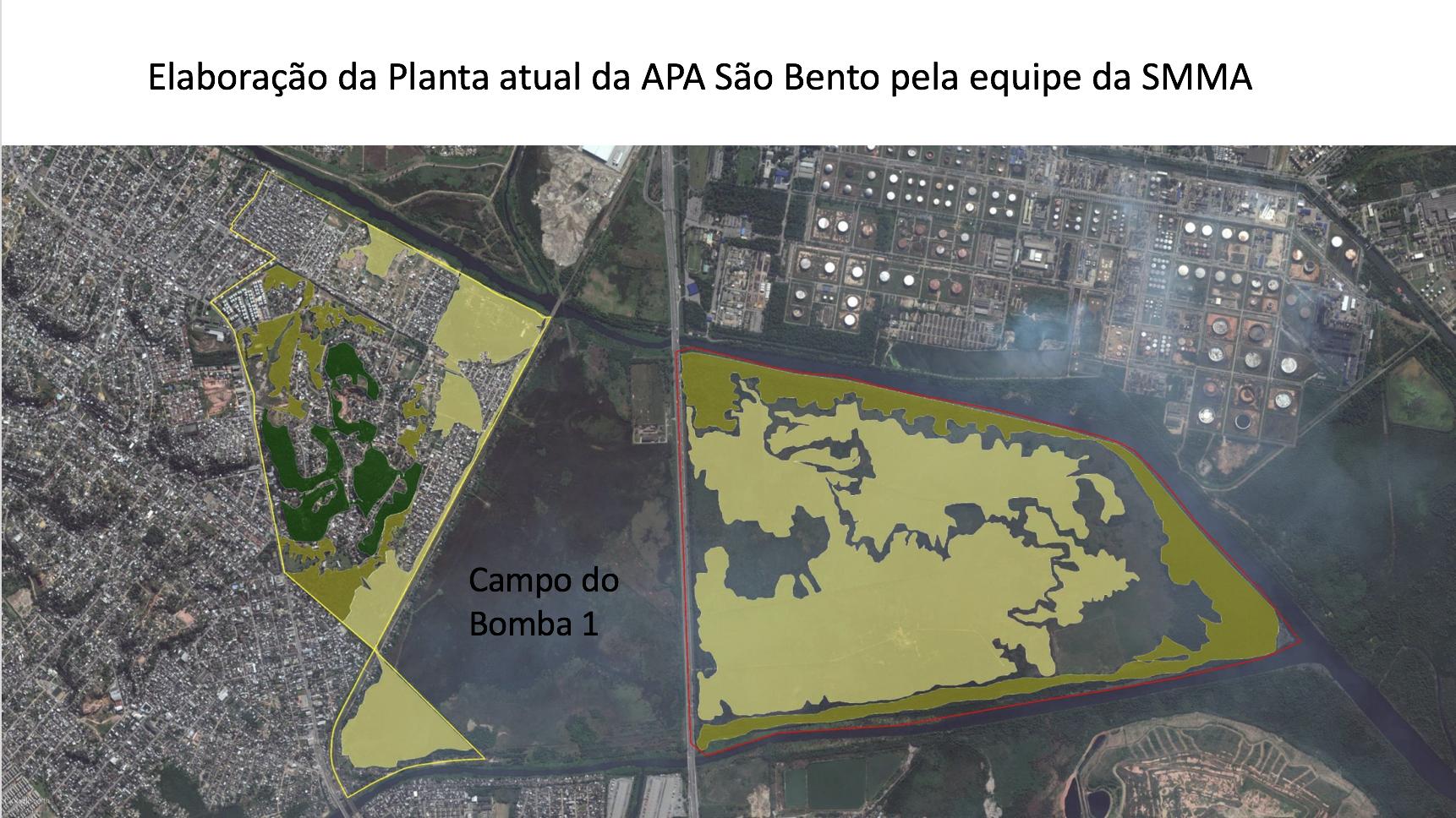 Planta actual de APA en São Bento.
