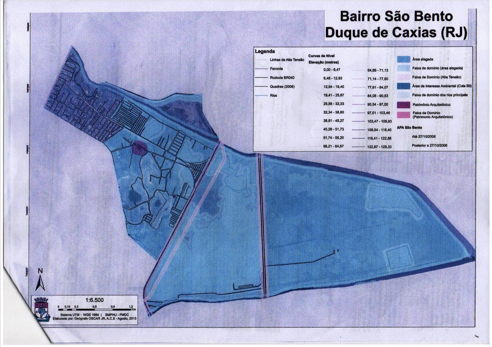 Mapas de APA en São Bento.