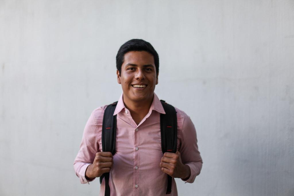 Carlos Yax, secretario general de la planilla Conciencia. Foto: Carlos Sebastián